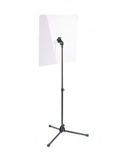 K&M Afskærmning, klar akryl - med tilslutning til node- og mikrofonstativ (11907)