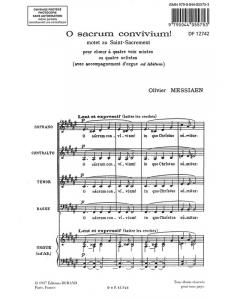Messiaen, Olivier: O Sacrum Convivium! (SATB a cappella)