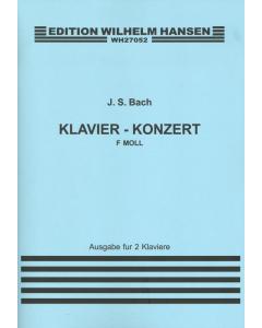 Bach, J.S.: Klavier-konzert F-moll (Ausgabe für 2 klaviere)