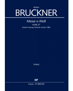 Bruckner, Anton: Messe e-Moll, WAB 27 (Vocal Score)