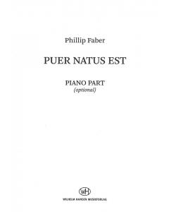 Faber, Phillip: Puer Natus Est (SSAA, Piano) PIANO PART