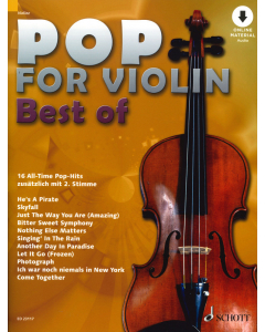 Best of Pop for Violin - 16 All-Time Pop-Hits (incl. Online Audio)