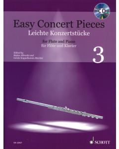 Easy Concert Pieces for Flute and Piano / Leichte Konzertstücke für Flöte und Klavier - Vol. 3 (incl. CD)