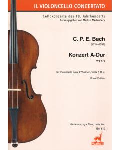 Bach, Carl Philipp Emanuel: Concert for Violoncello A Major Wq 172 (Violoncello, Piano)