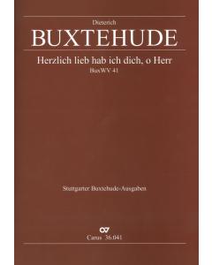 Buxtehude, Dieterich: Herzlich lieb hab ich dich, o Herr (BuxWV 41) (Score)