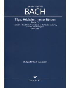 Bach, J.S.: Tilge, Höchster, meine Sünden Psalm 51. Nach dem Stabat Mater von Giovanni Battista Pergolesi, BWV 1083 (Full Score)