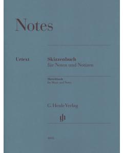 Henle Notes Sketchbook - 14 linjer, 32 sider (Hæftet)
