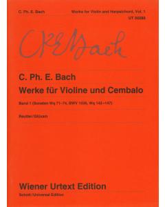 Bach, C. Ph. E: Werke für Violine und Cembalo / Works for Violin and Harpsichord (Vol. 1)