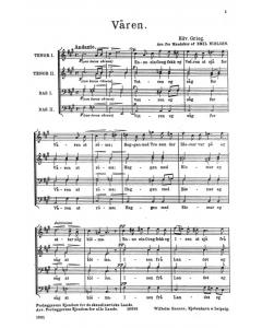 Grieg: Våren - arr. Emil Nielsen (TTBB a cappella)