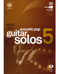 Acoustic Pop Guitar Solos 5 (incl. Audio Download) (Michael Langer)