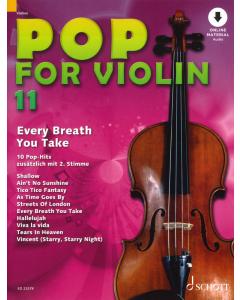 Pop for Violin Vol.11 (incl. Online Audio)
