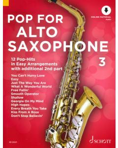 Pop for Alto Saxophone 3 (incl. Online Audio)