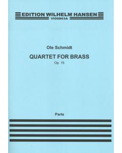 Schmidt, Ole: Kvartet for messing / Quartett for brass, op. 15 (Set of parts)