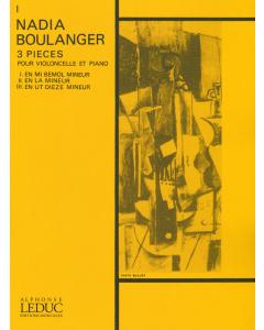 Boulanger, Nadia: Trois Pièces - No.1 in E Flat Minor (Violoncello, Piano)