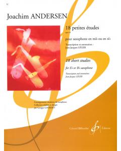 Andersen, Joachim: 18 petites études, op. 41 (Eb or Bb saxophone)