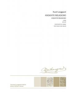 Langgaard, Rued: Andante religioso BVN 407 (Violin, Organ)