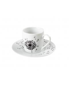 Espresso Music Dandelion - sæt med underkop