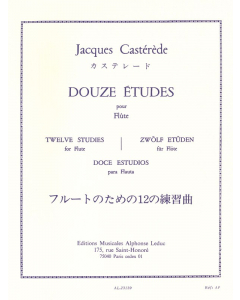 Castérède, Jacques: Douze Études pour Flûte / Twelve Studies for Flute