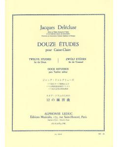 Delécluse, Jacques: Douze Études pour Caisse-Claire / Twelve Studies for the Drum