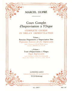 Dupre Complete Course in Organ Improvisation, Volume 2