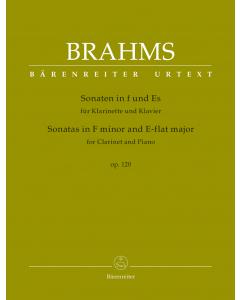 Brahms: Sonaten in F und Es / Sonatas in F minor and E-flat major, op. 120 (Clarinet, Piano)