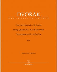 Dvorák, Antonín: String Quartet no. 10 in E-flat major, op. 51 (Set of Parts)