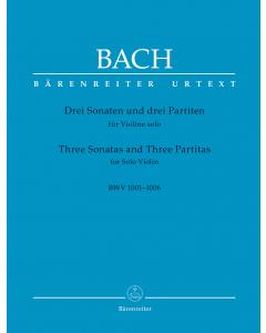 Bach, J.S.:  Drei Sonaten und drei Partiten / Three Sonatas and Three Partitas, BWV 1001-1006 (Solo Violin)