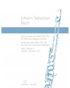 Bach, J.S.: Sechs Sonaten nach BWV 525-530 / Six Sonatas after BWV 525-530 (Flute and Harpsichord Obbligato) - Vol. I: Sonatas 1 and 2