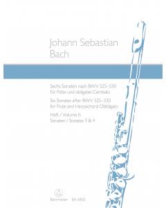 Bach, J.S.: Sechs Sonaten nach BWV 525-530 / Six Sonatas after BWV 525-530 (Flute and Harpsichord Obbligato) - Vol. II: Sonatas 3 and 4