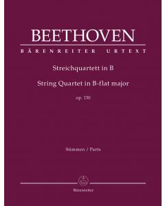 Beethoven: Streichquartett in B / String Quartet in B-flat major, op. 130 (Set of Parts)