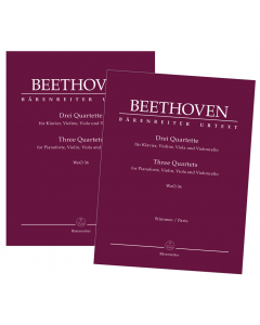Beethoven: Drei Quartette für Klavier, Violine, Viola und Violoncello, WoO 36 (Set of Parts)