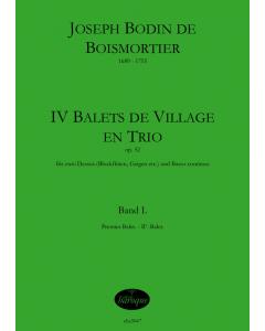 Boismortier, Joseph Bodin de: Balets de Village en trio, op. 52 - Vol. 2