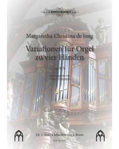 de Jong, Margaretha Christina: Variationen für Orgel zu vier Händen, op. 87b