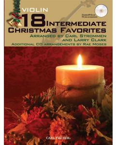 18 Intermediate Christmas Favorites - Violin (incl. CD)