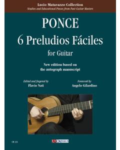 Ponce: 6 Preludios Fáciles (for Guitar)