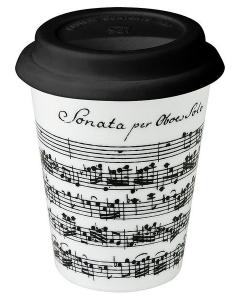 Kaffekrus med barok nodemotiv (med silikonelåg)