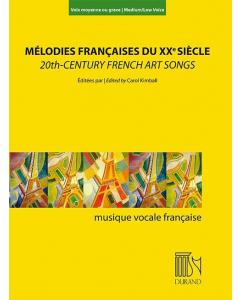20th-Century French Art Songs / Mélodies Francaises du XXe Siècle (Medium/Low Voice, Piano)