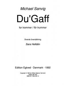 Du'Gaff - for trommer (Michael Sanvig)