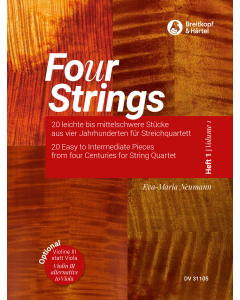 Fo(u)r Strings - Easy to Intermediate Pieces for String Quartet (Vol. 1)