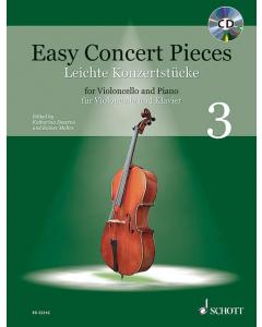 Easy Concert Pieces for Cello and Piano / Leichte Konzertstücke für Cello und Klavier - Vol. 3 (incl. CD)