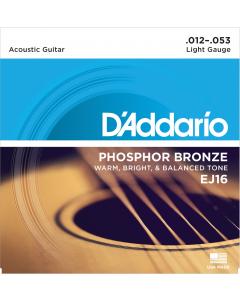 D'addario EJ16 - Light Guitarstrenge til Akustisk Guitar (sæt)