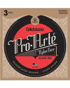 D'addario EJ45 Pro Arte - Guitarstrenge (3-PAK)