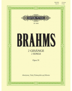Brahms: 2 Gesänge, op. 91 (Alto, Viola (Violoncello) and Piano)