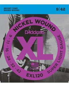 D'addario EXL120 - Guitarstrenge til El-Guitar (sæt)