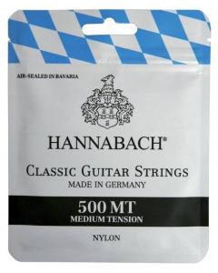 Hannabach Strenge til Klassisk Guitar - 500MT (Medium Tension)