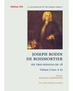 Boismortier, Joseph Bodin de: Six Trio Sonatas, op. 18 (Vol. 2 - nos. 4-6) (2 Violins, Basso Continuo)