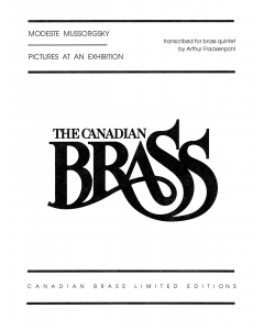 Mussorgsky: Pictures at an Exhibition - arr. by Arthur Frackenpohl for Brass Quintet