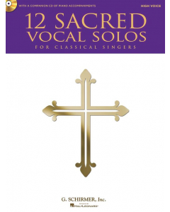 12 Sacred Vocal Solos (High Voice, Piano) (incl. CD)