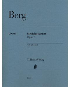 Berg, Alban: Streichquartett / String Quartet, op. 3 (Set of Parts)