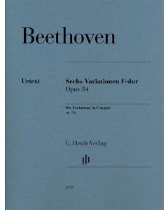 Beethoven: Sechs Variationen F-dur, op. 34 (Piano)